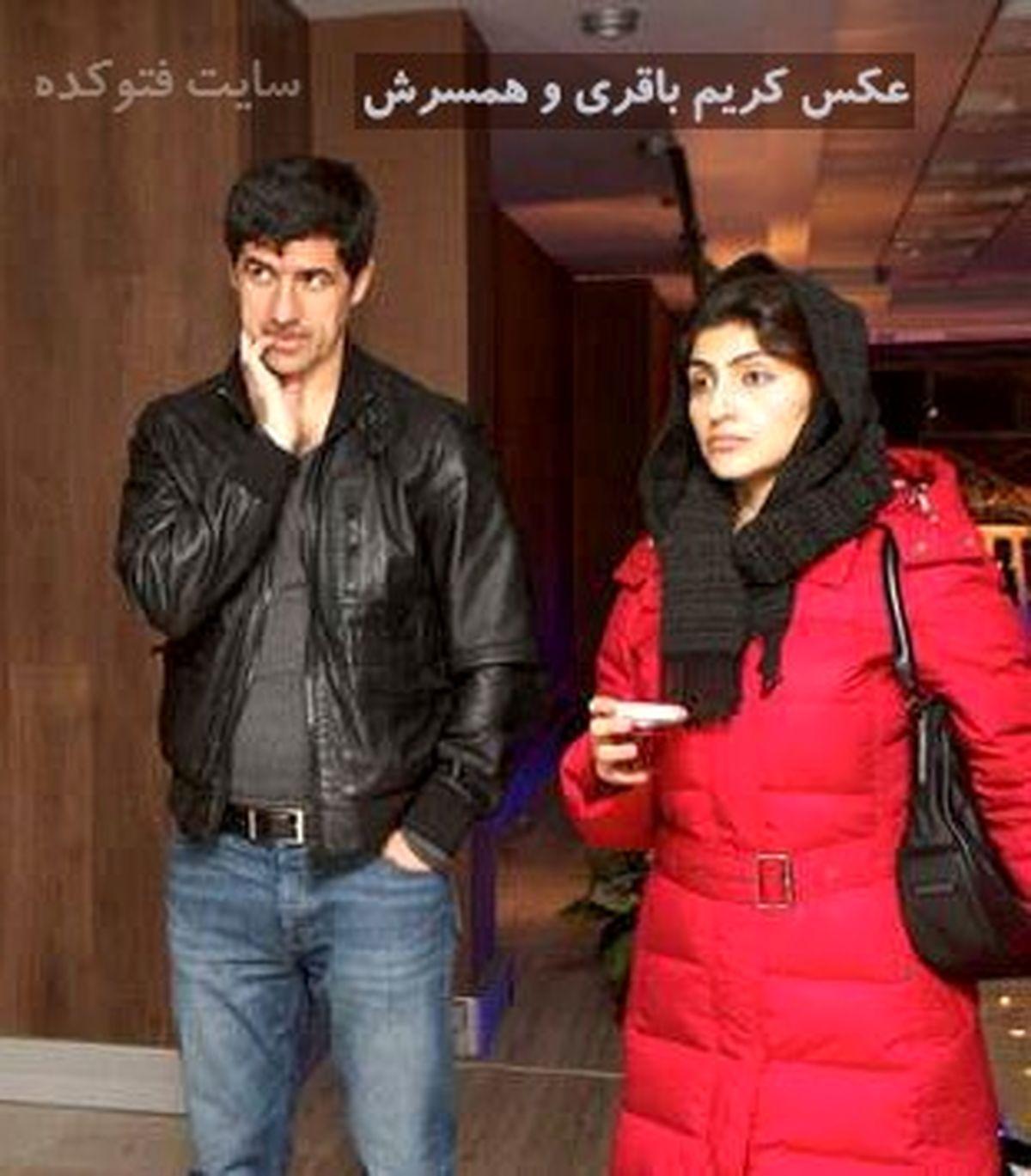 تصاویر لو رفته از کریم باقری و همسرش