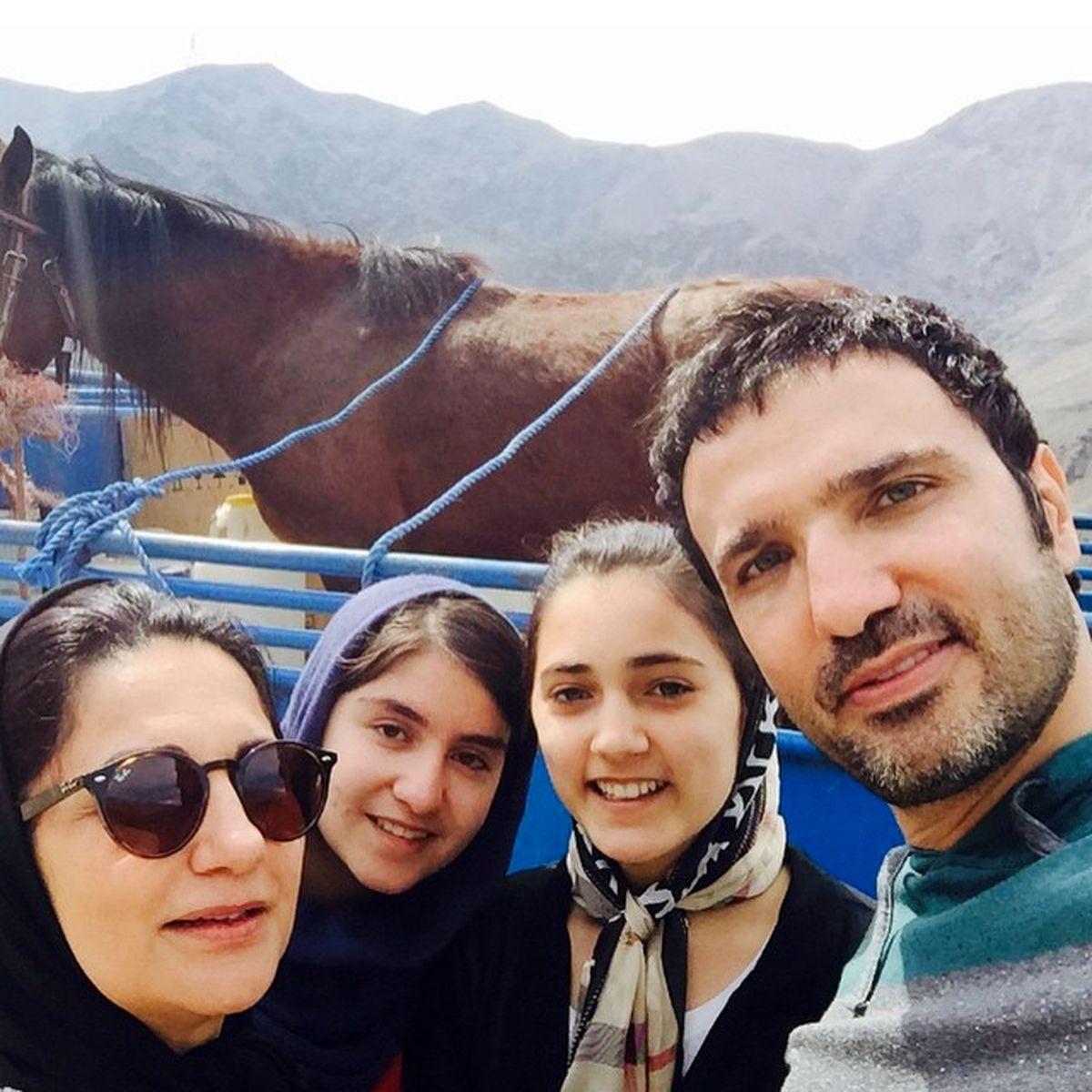 محمدرضا فروتن از همسرش رونمایی کرد! +عکس خانوادگی