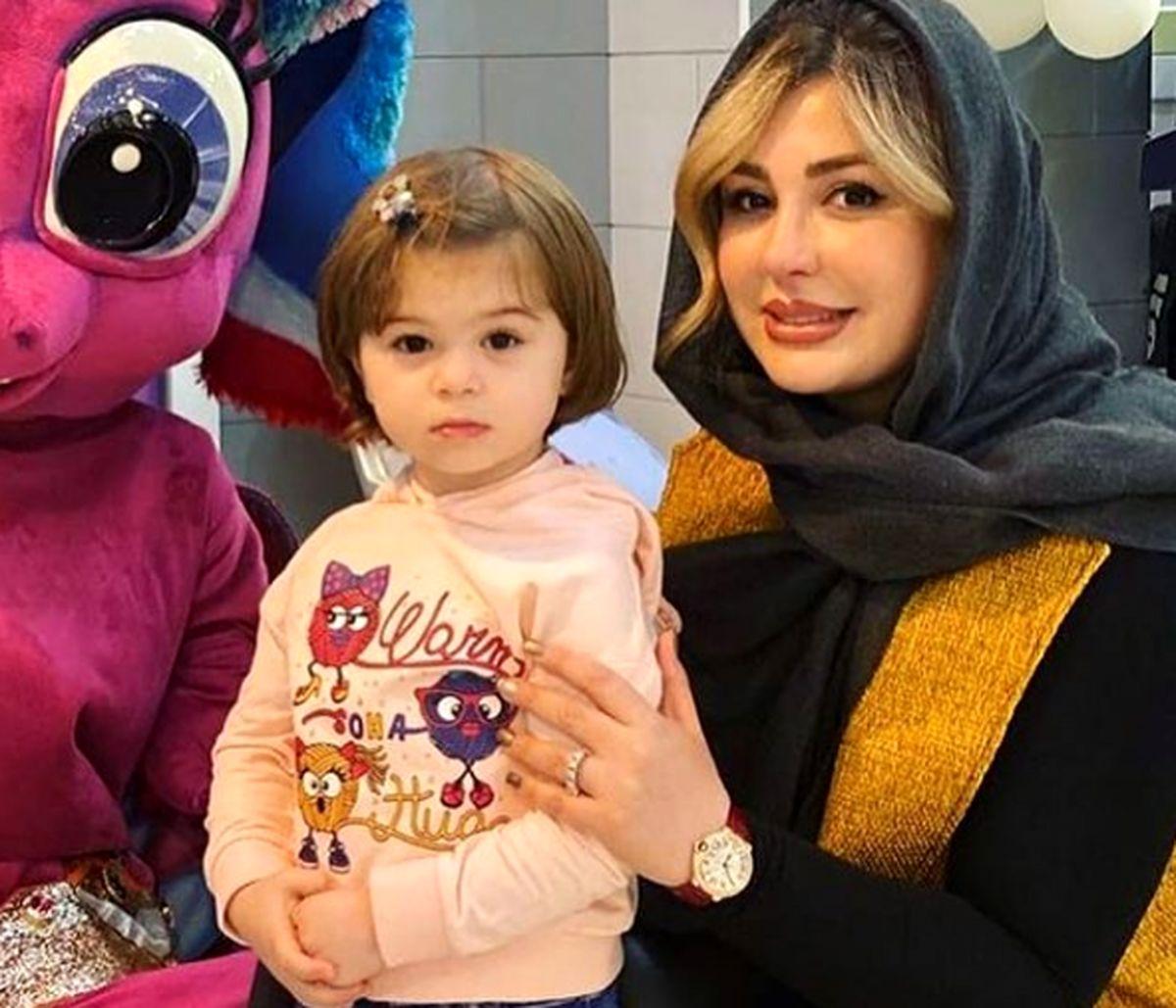 تصاویر دیده نشده از نیوشا ضیغمی در کنار دخترش