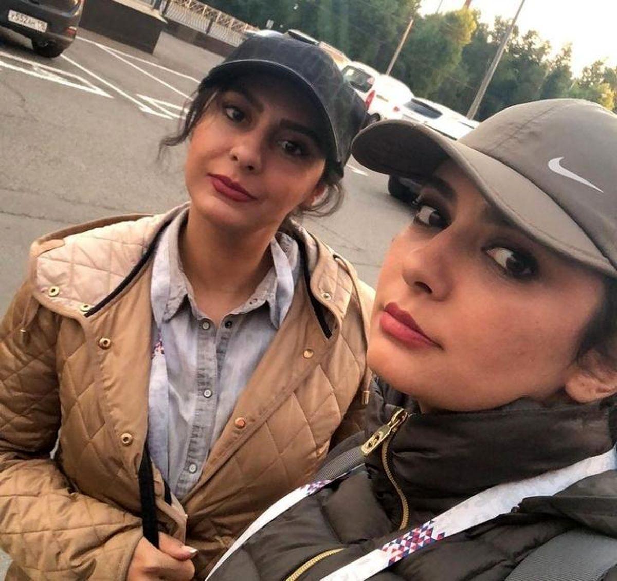 لیندا کیانی و خواهرش در خارج از کشور + عکس