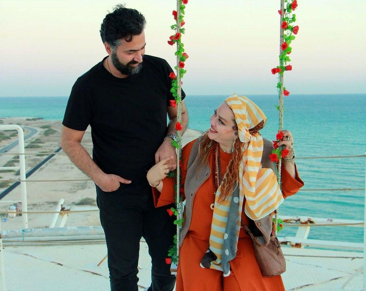 شعر عاشقانه حاجی برای چشم های بهاره رهنما! +عکس