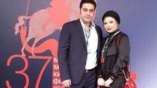 عکس دیده نشده از نیوشا ضیغمی و همسرش