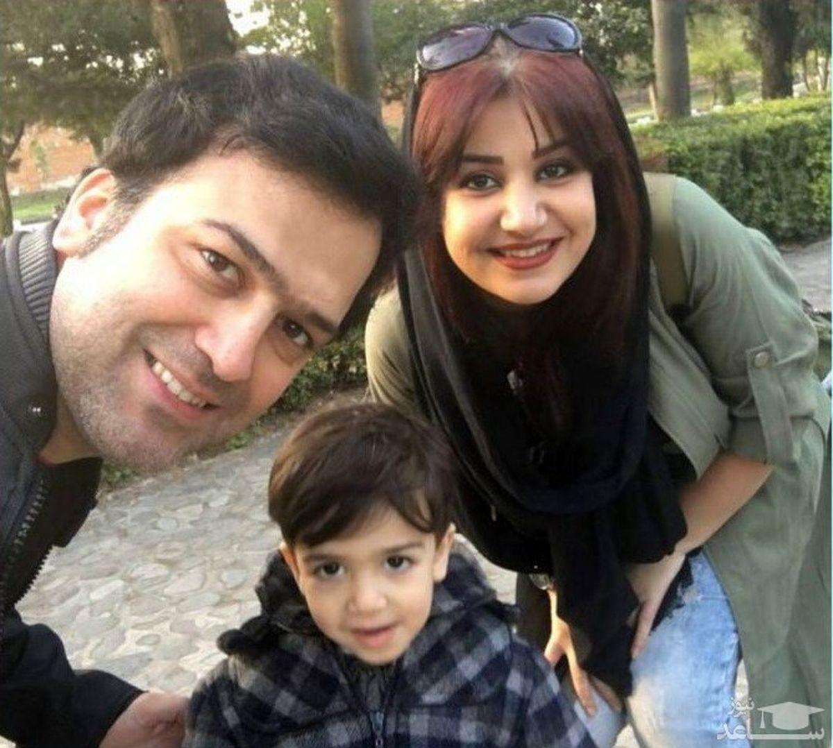 حامد آهنگی از همسرش رونمایی کرد +عکس پسرش