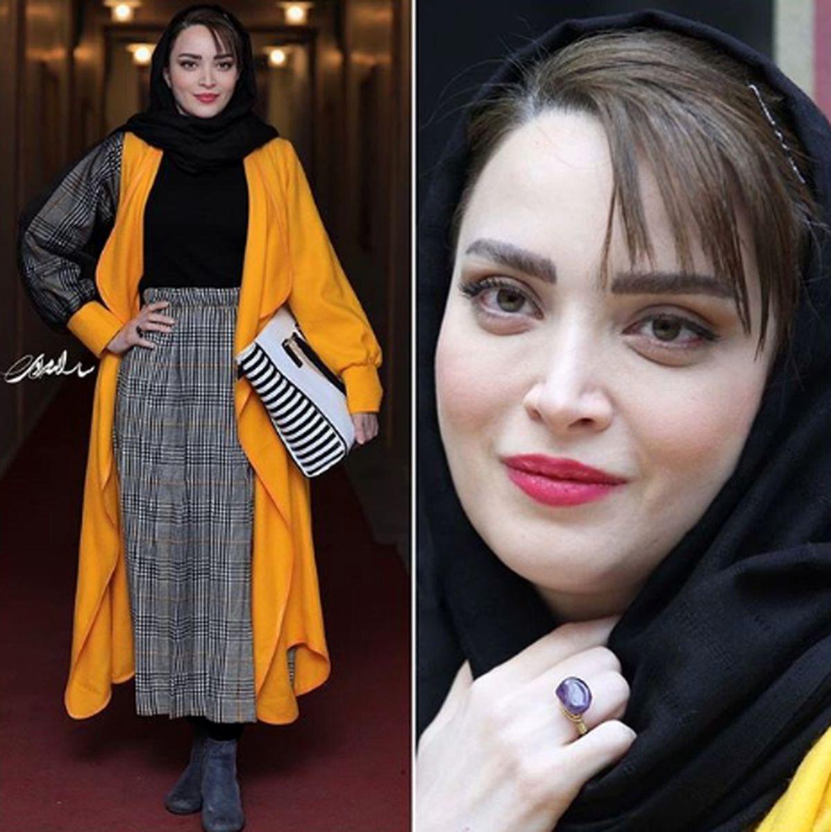 پوشش متفاوت بهنوش طباطبایی در تهران و مشهد جنجال به پا کرد