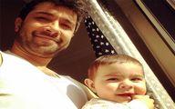 ماجرای ازدواج حسین مهری و همسرش +عکس پسرش